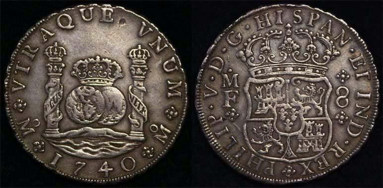 Pillar Dollar, 1740